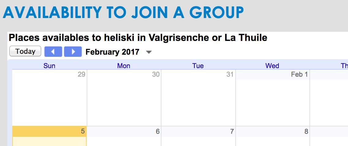 Heliski 6 jours à Vagrisenche