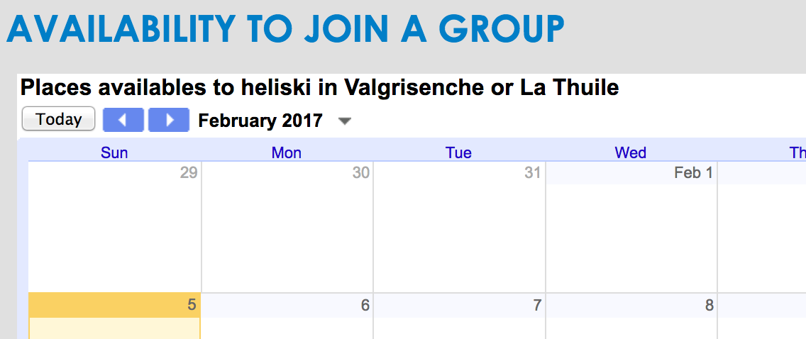 Heliski 6 jours � Vagrisenche